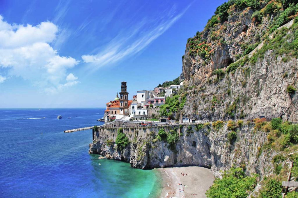 Amalfi coast, boat holiday